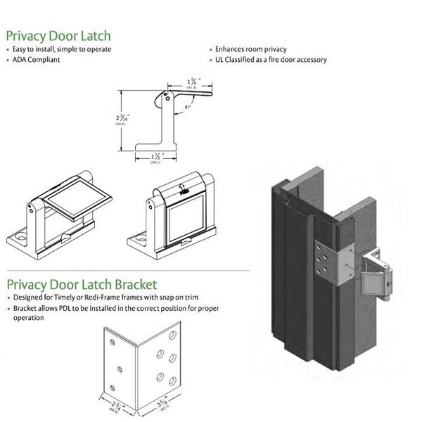 pestillo de la puerta de privacidad
